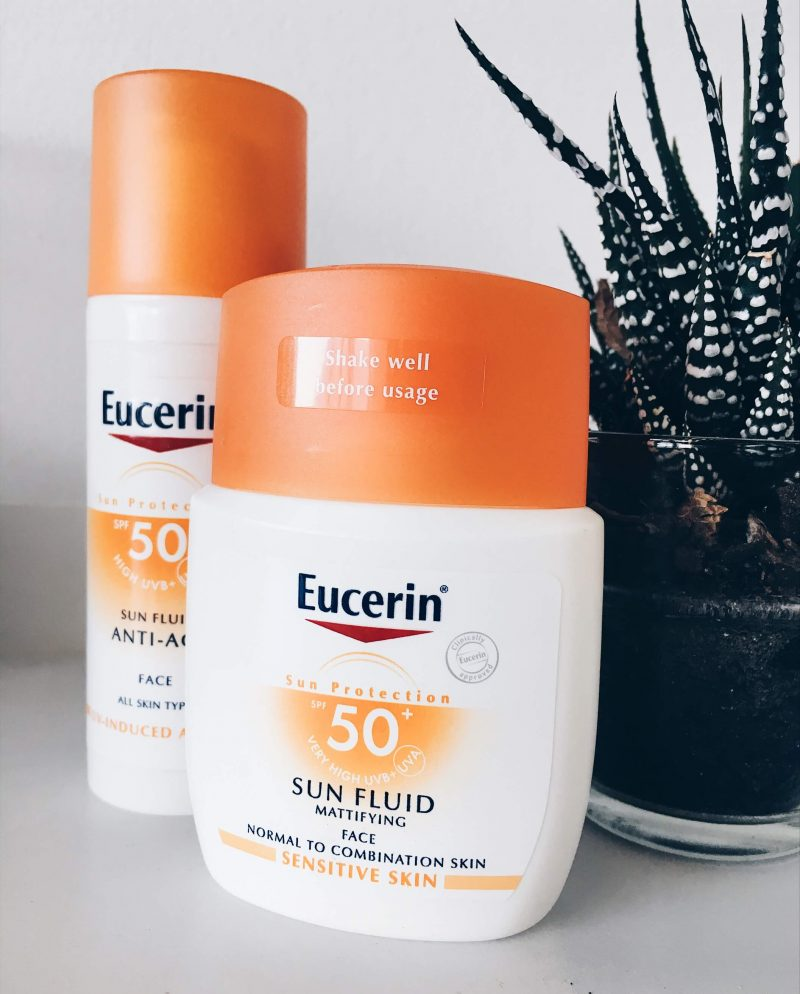 Eucerin Sun Protection topknotch blog mattifying sunscreen