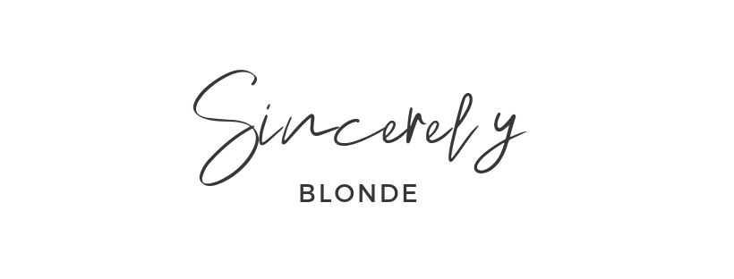 Sincerely Blonde